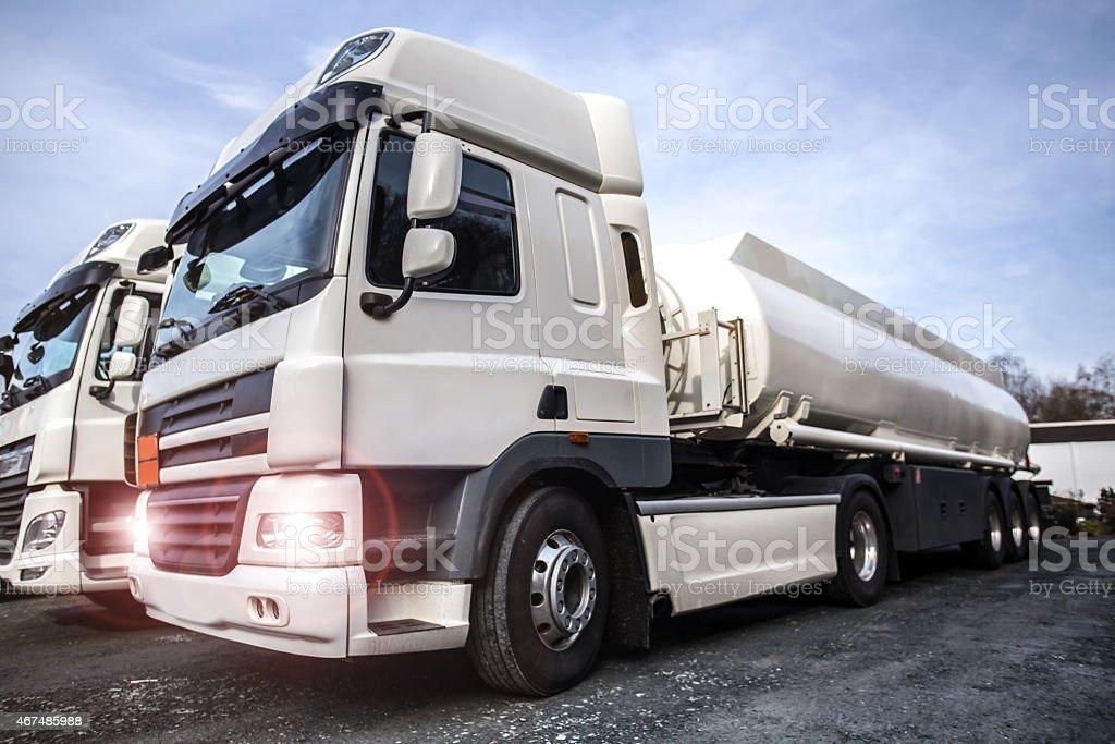 gasoline transporter stock photo