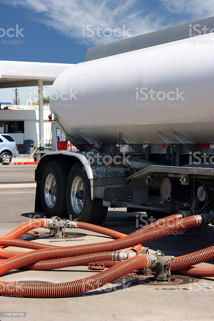Gasoline truck royalty-free stock photo