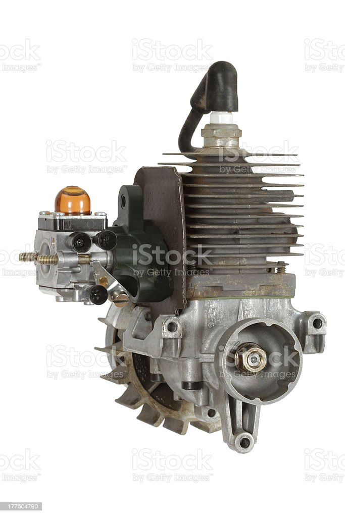 Gasoline-fueled internal combustion engine royalty-free stock photo