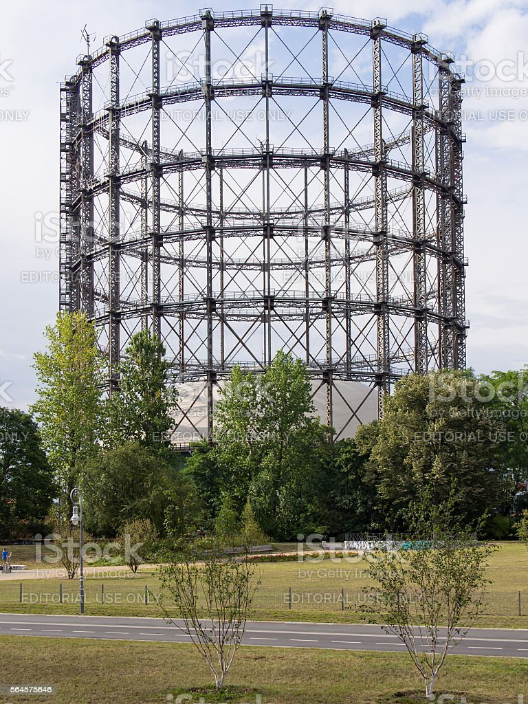 Gasometer in Berlin-Schoeneberg in Berlin, Germany stock photo