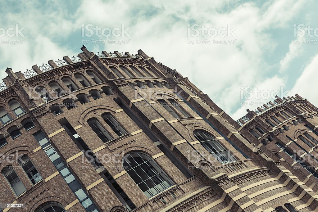 Gasometer in Wien royalty-free stock photo