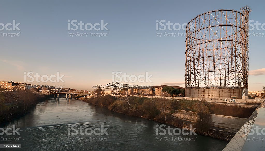Gasometro, Roma, Italia stock photo