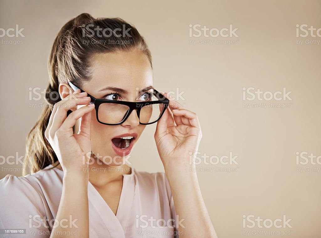 Gasp! stock photo
