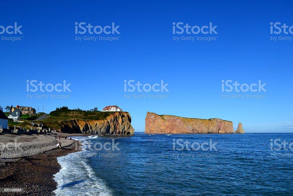 Gaspesie: Perce Rock stock photo