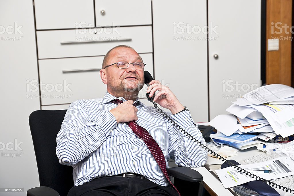 Gasping Businessman royalty-free stock photo