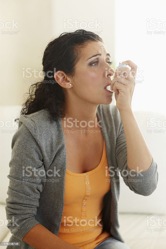 Gasping for air royalty-free stock photo