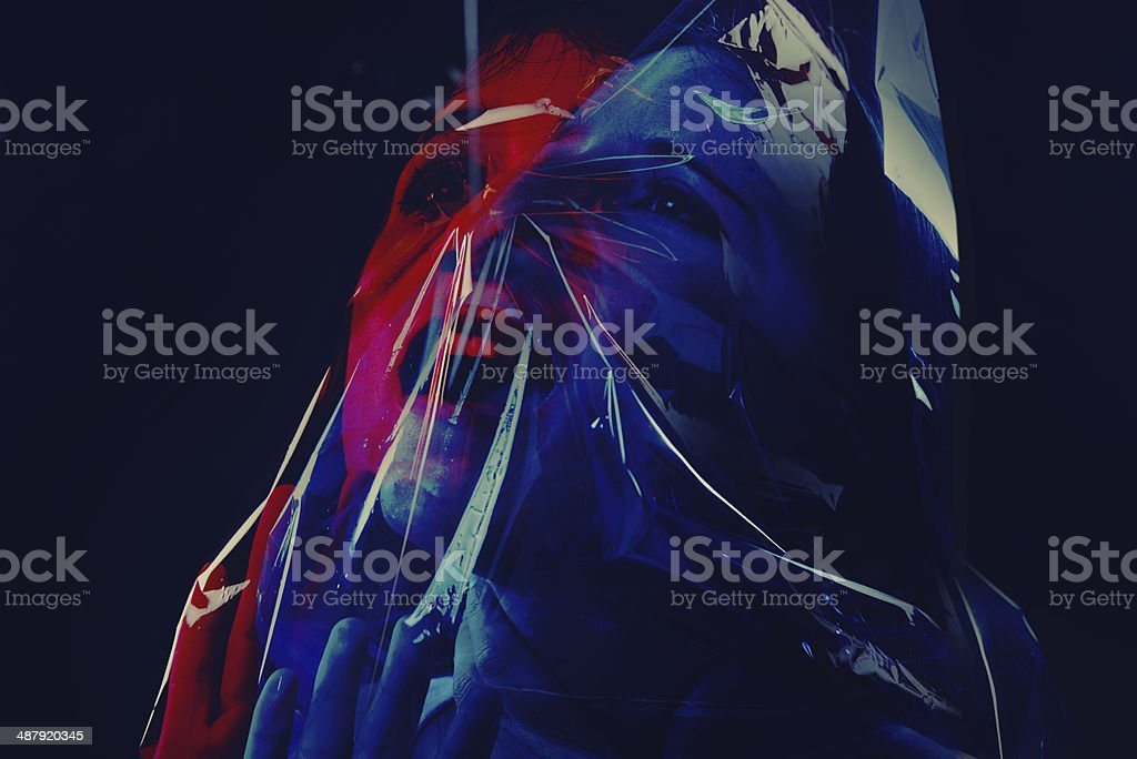 Gasping for life stock photo