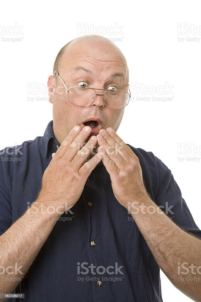 Gasping Surpise royalty-free stock photo