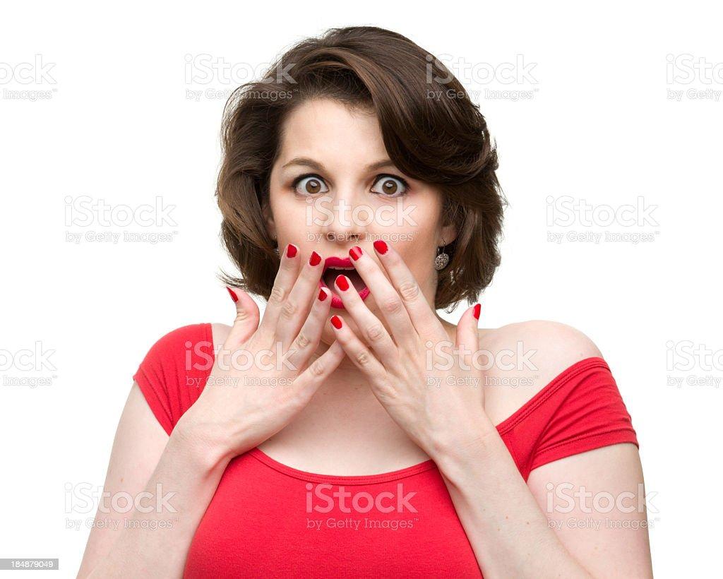 Gasping Woman royalty-free stock photo
