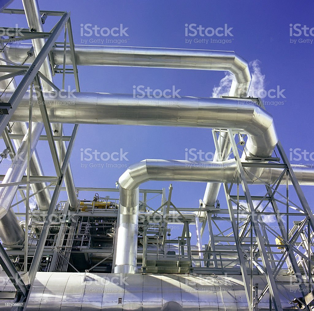Gasplant Ductwork #2 royalty-free stock photo