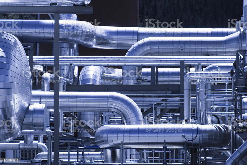Gasplant Ductwork stock photo
