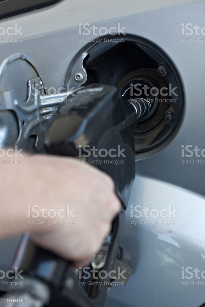 Gassing up again royalty-free stock photo