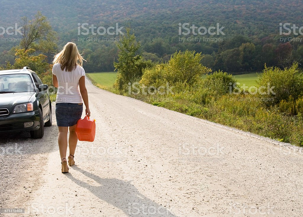 Gassing Up royalty-free stock photo