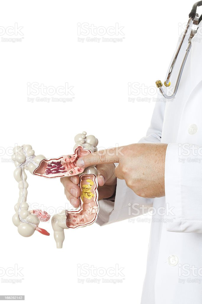 Gastroenterologist on white background stock photo