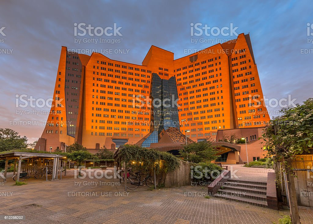 Gasunie Groningen perspective stock photo