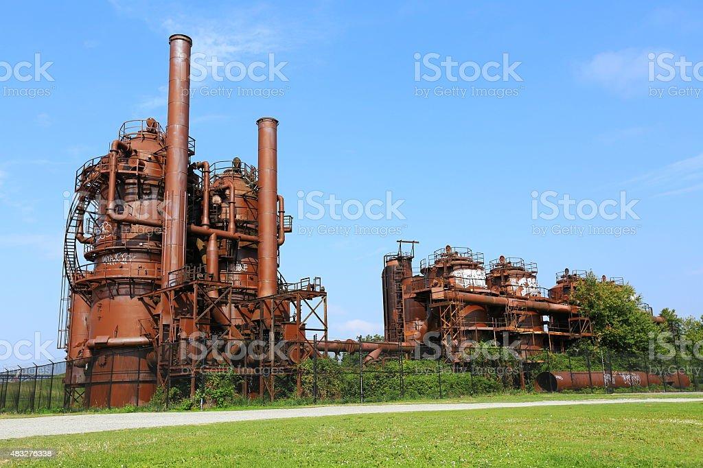 Gasworks Park Plant, Seattle stock photo