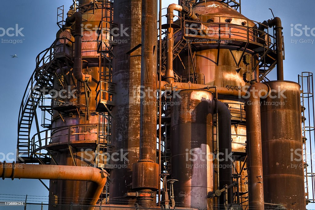 Gasworks Park Refinery Tower royalty-free stock photo