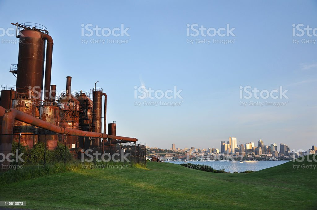 Gasworks Park, Seattle stock photo
