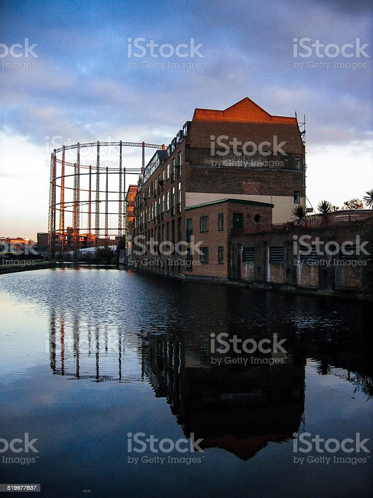 Gasworks stock photo