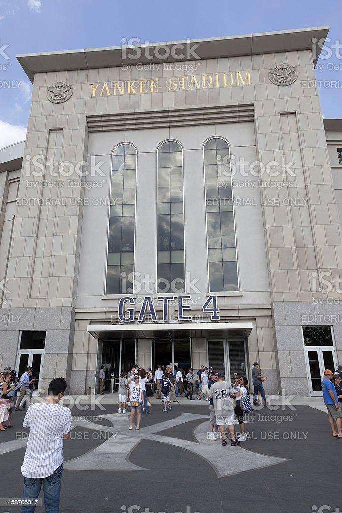 Gate 4 Yankee Stadium stock photo