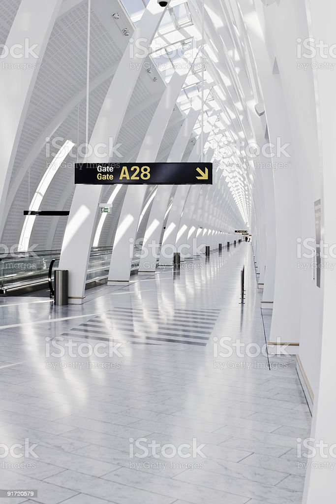Gate A28 royalty-free stock photo