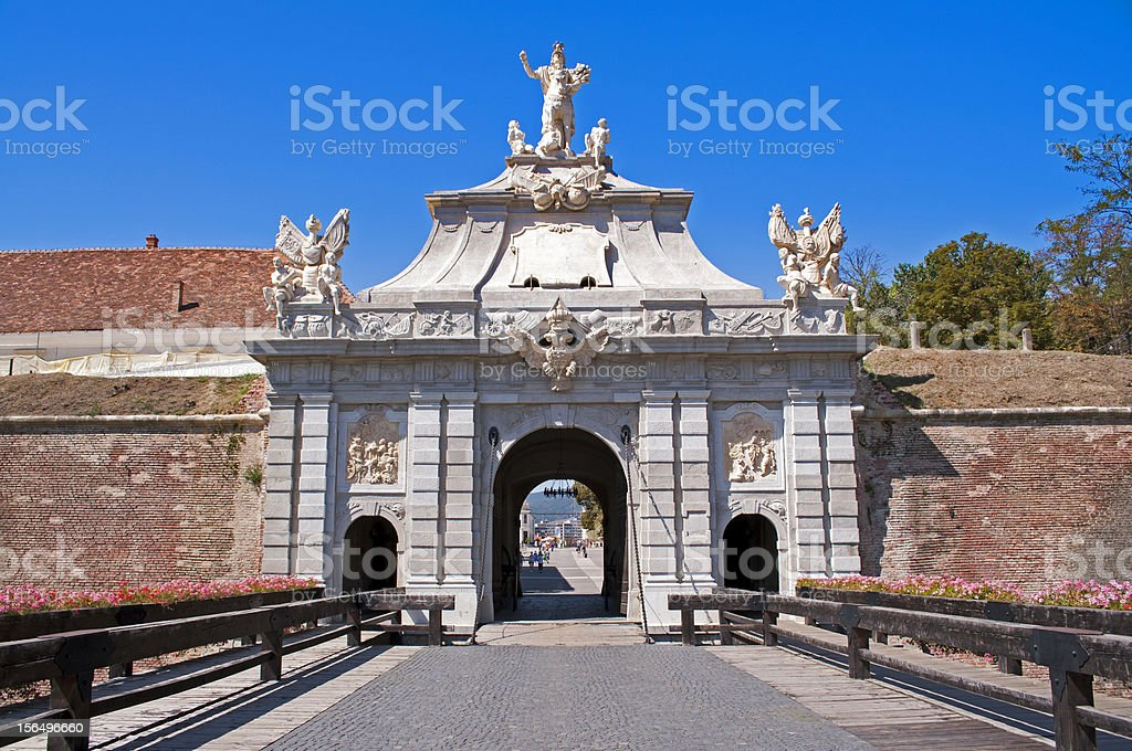 Gate at citadel royalty-free stock photo