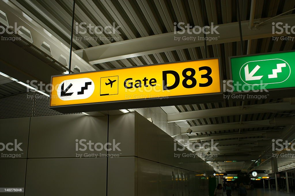 Gate D83 royalty-free stock photo