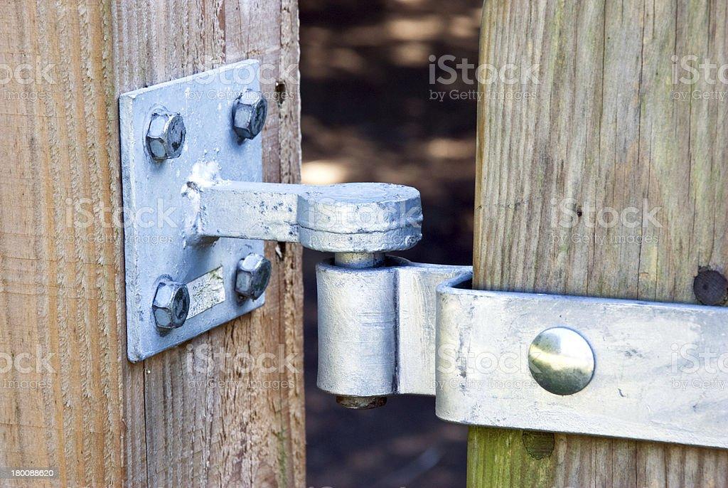 Gate hinge royalty-free stock photo