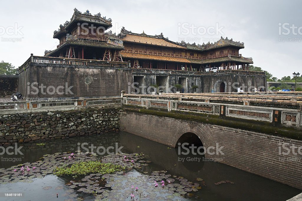 Gate House Of The Forbidden Purple City In Hue, Vietnam stock photo