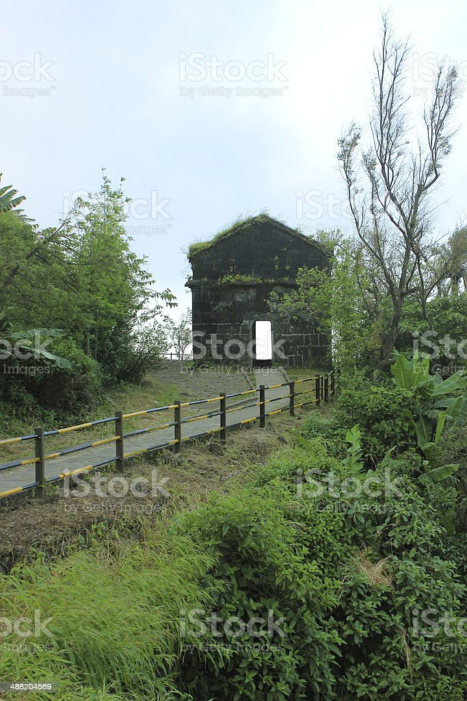 Gate in hills stock photo