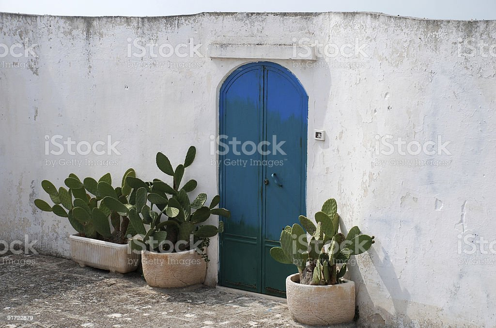 Gate in Ostuni, Italy royalty-free stock photo