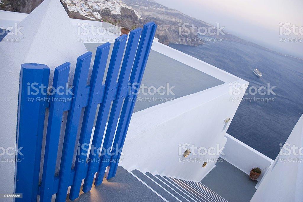 Gate in Santorini royalty-free stock photo