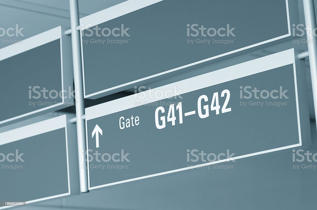 Gate in the Aiport royalty-free stock photo