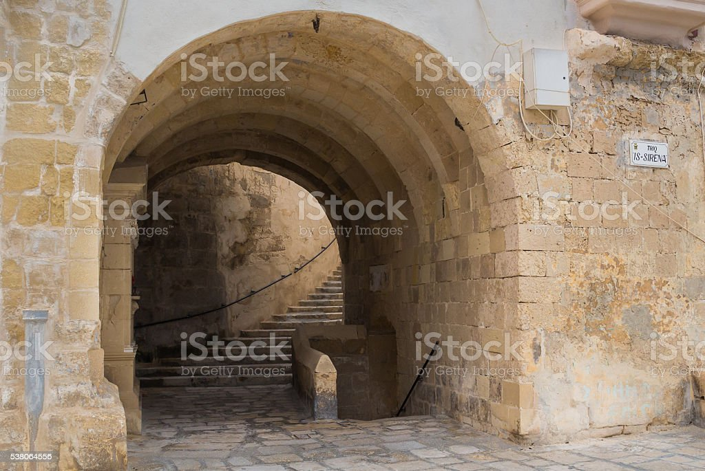 Gate in the fortification, Senglea, island Malta stock photo