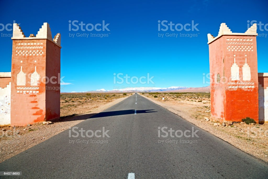 gate   in todra gorge m  africa and stock photo