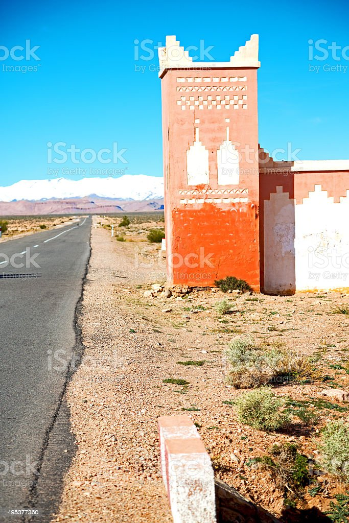 gate   in todra gorge stock photo