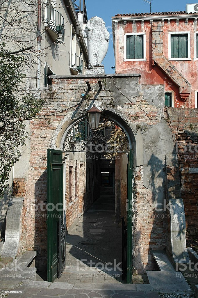 Gate in Venice royalty-free stock photo