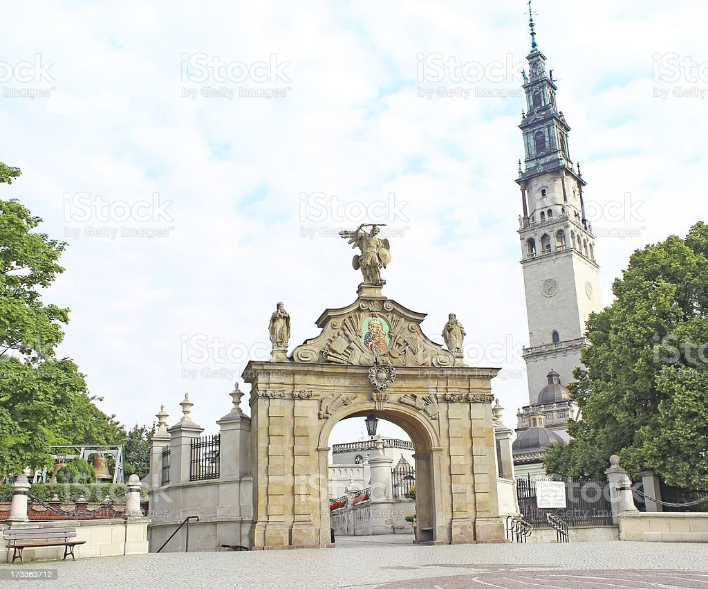 Gate Lubomirski at Jasna Gora in Poland stock photo
