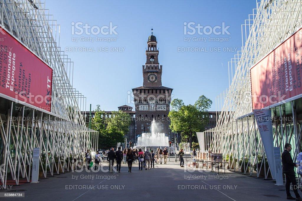 EXPO Gate Milano Information Building stock photo