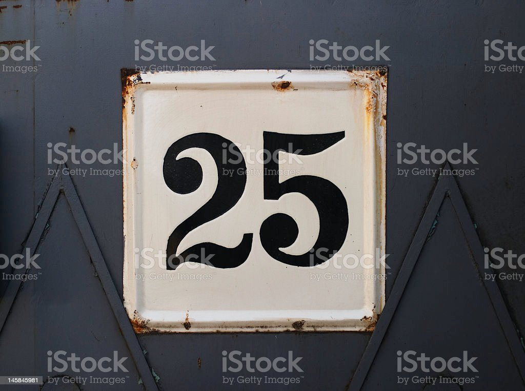 Gate number 25 stock photo