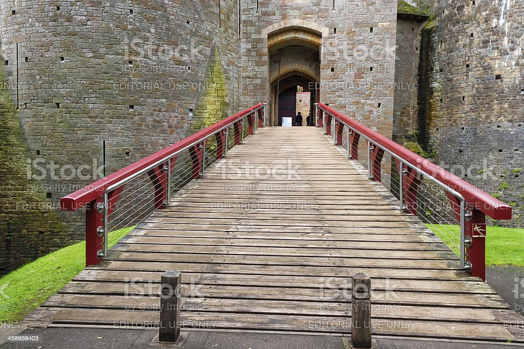 Gate of a Medieval castle stock photo