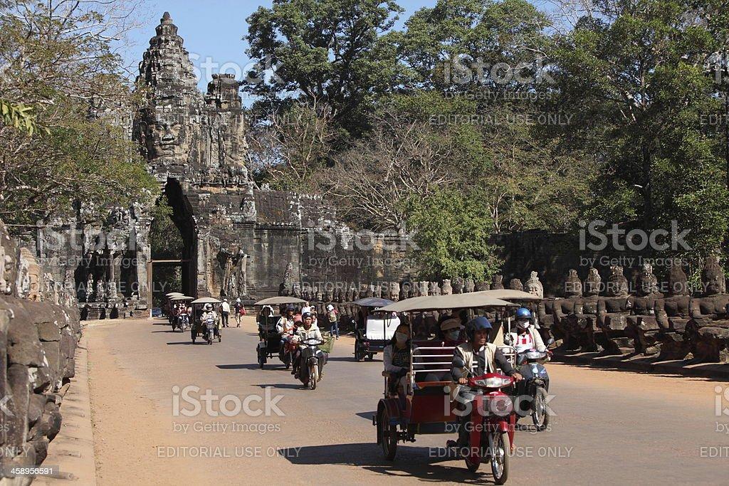 Gate of Angkor Thom royalty-free stock photo