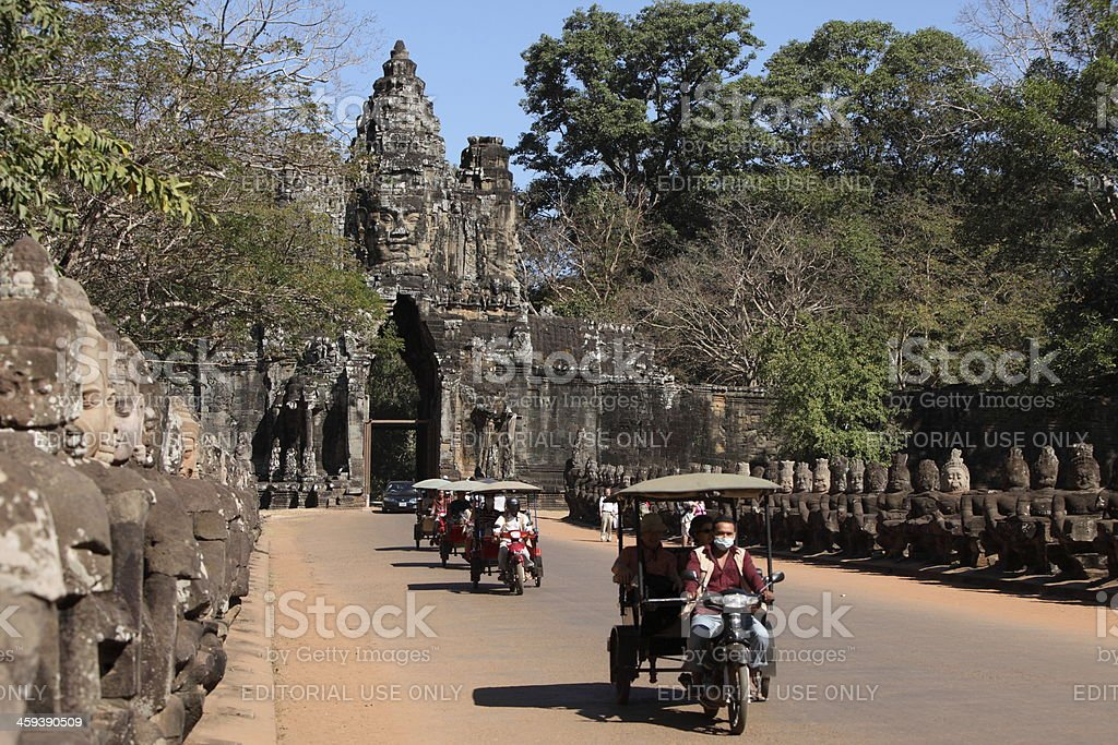 Gate of Angkor Thom stock photo