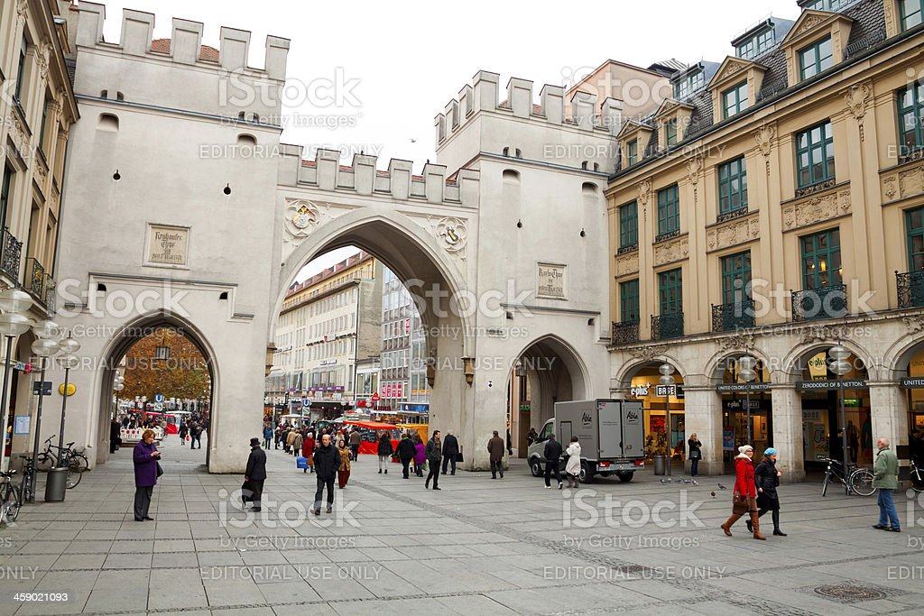 Gate of Charles in Munich royalty-free stock photo