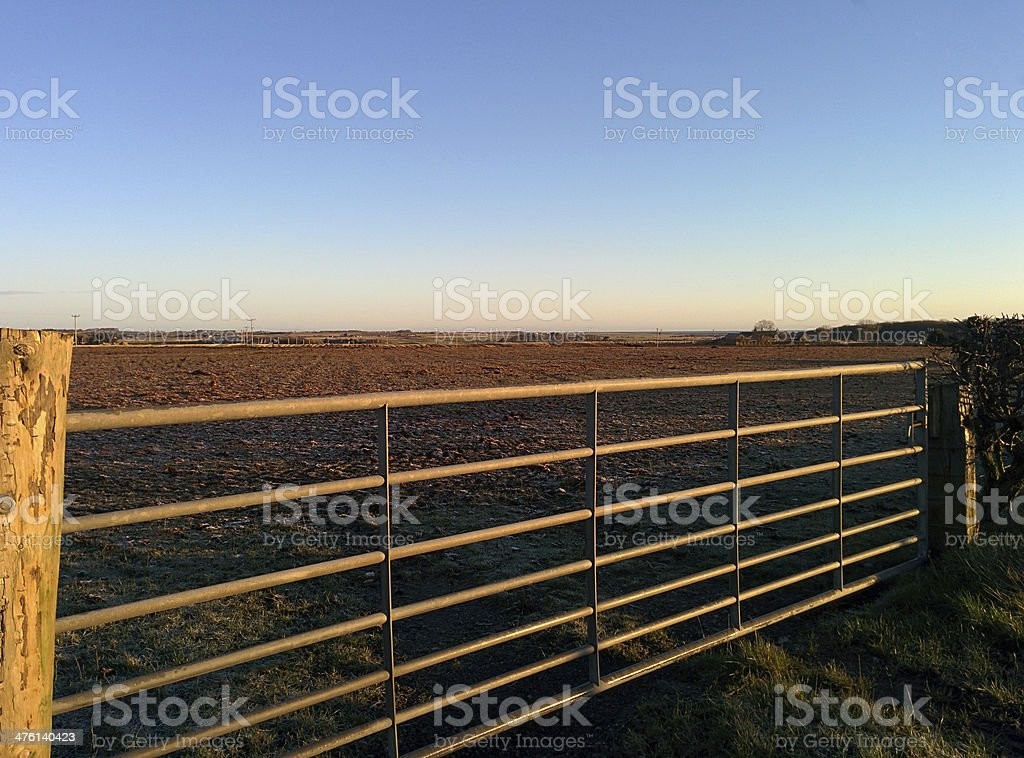 Gate of field royalty-free stock photo