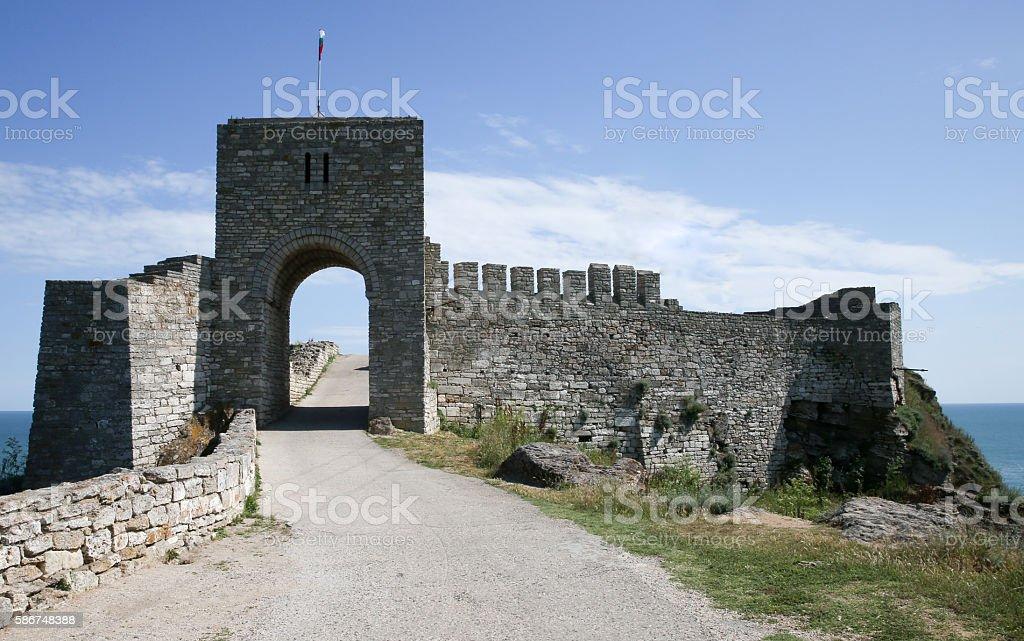 Gate of fortress Kaliakra, Black Sea Coast stock photo