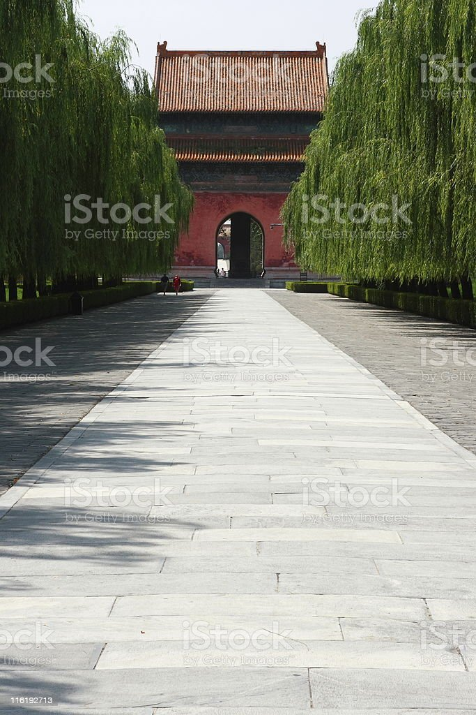 Gate of Ming Graves Back Side stock photo