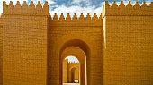 Gate of partially restored Babylon ruins, Hillah Iraq