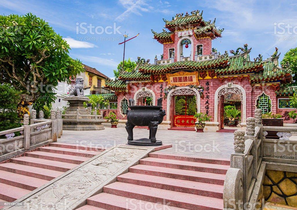 Gate of Phuc Kien Assembly Hall, Hoi An, Vietnam stock photo