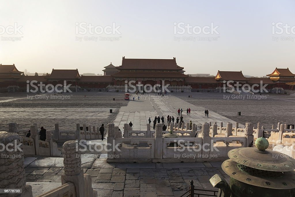 Gate of Supreme Harmony. Forbidden City. Beijing. China. stock photo
